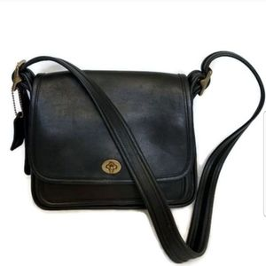 COACH Legacy Crossbody 9061 Black Leather Bag